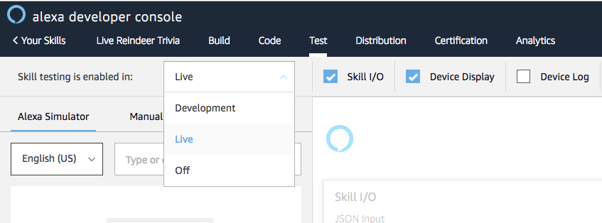 Test Your Live Alexa Skills to Maintain a Consistent
