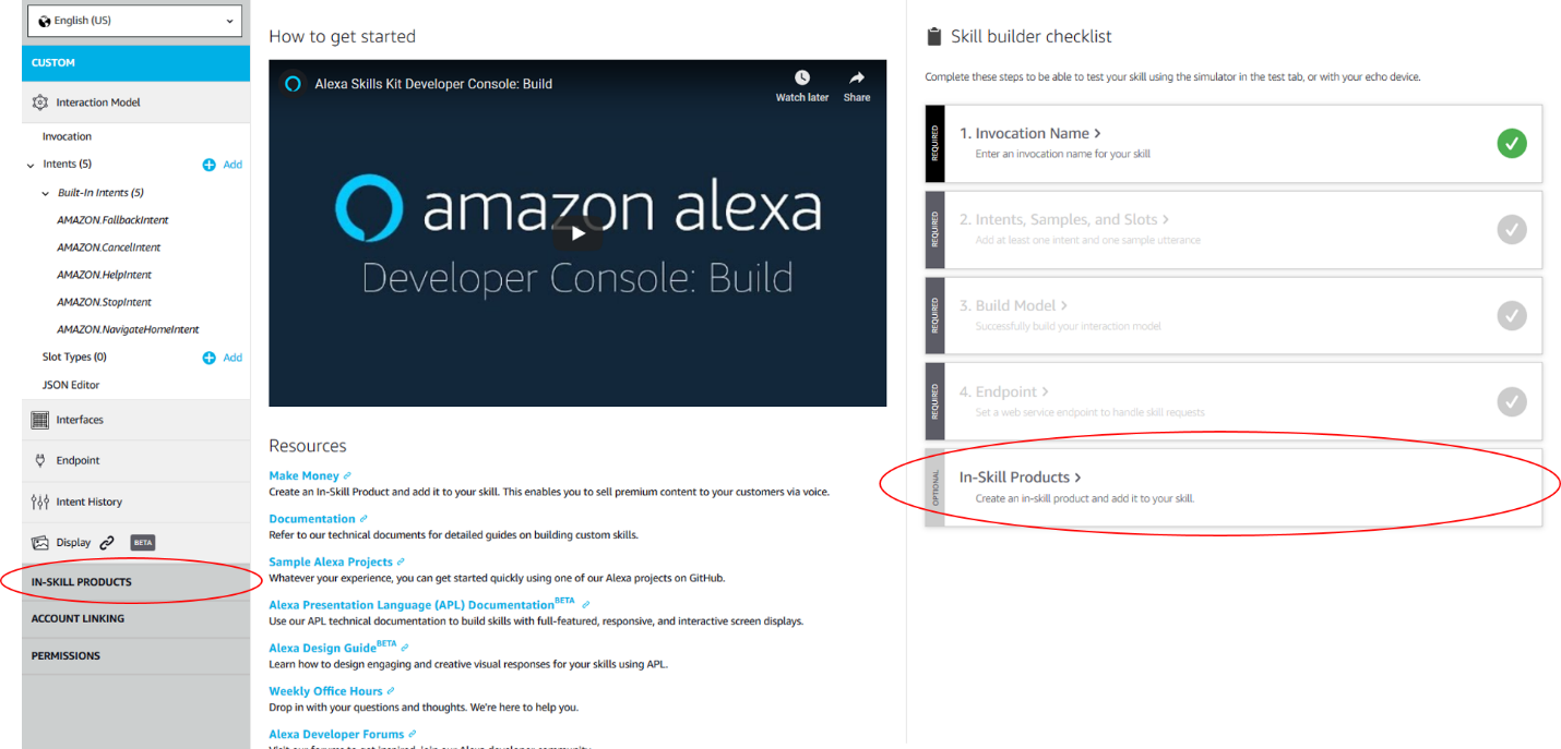Add In-Skill Purchasing Directly from the Alexa Developer