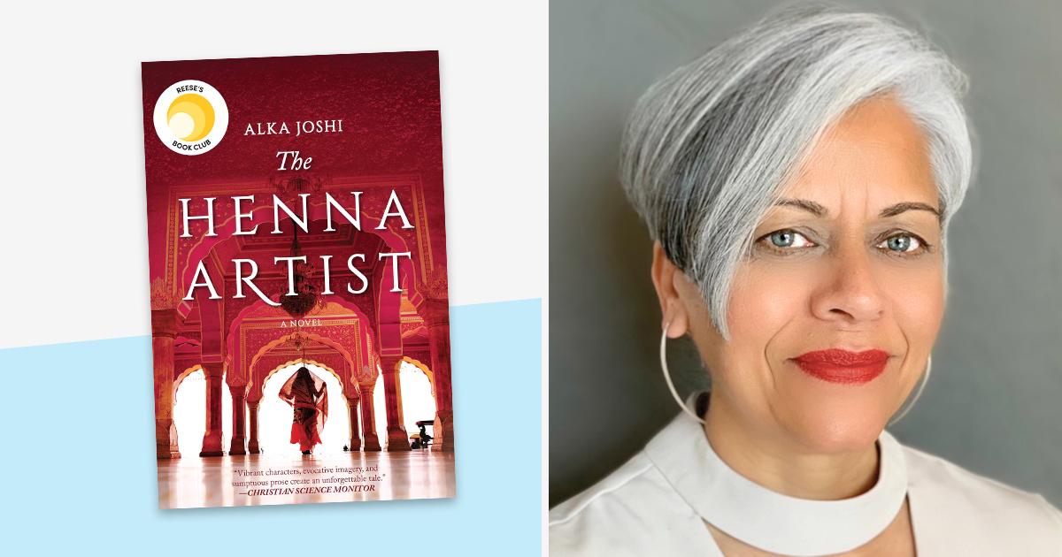 Alka Joshi and her book, 'The Henna Artist,'