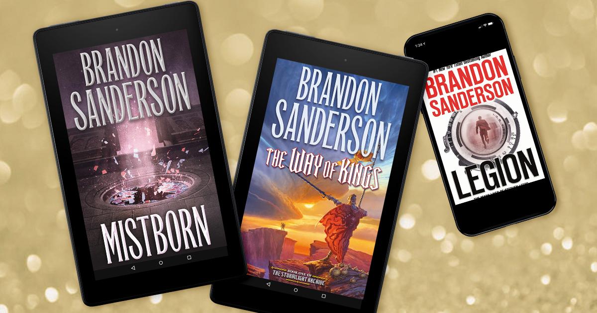 Brandon Sanderson novels now in Kindle Unlimited