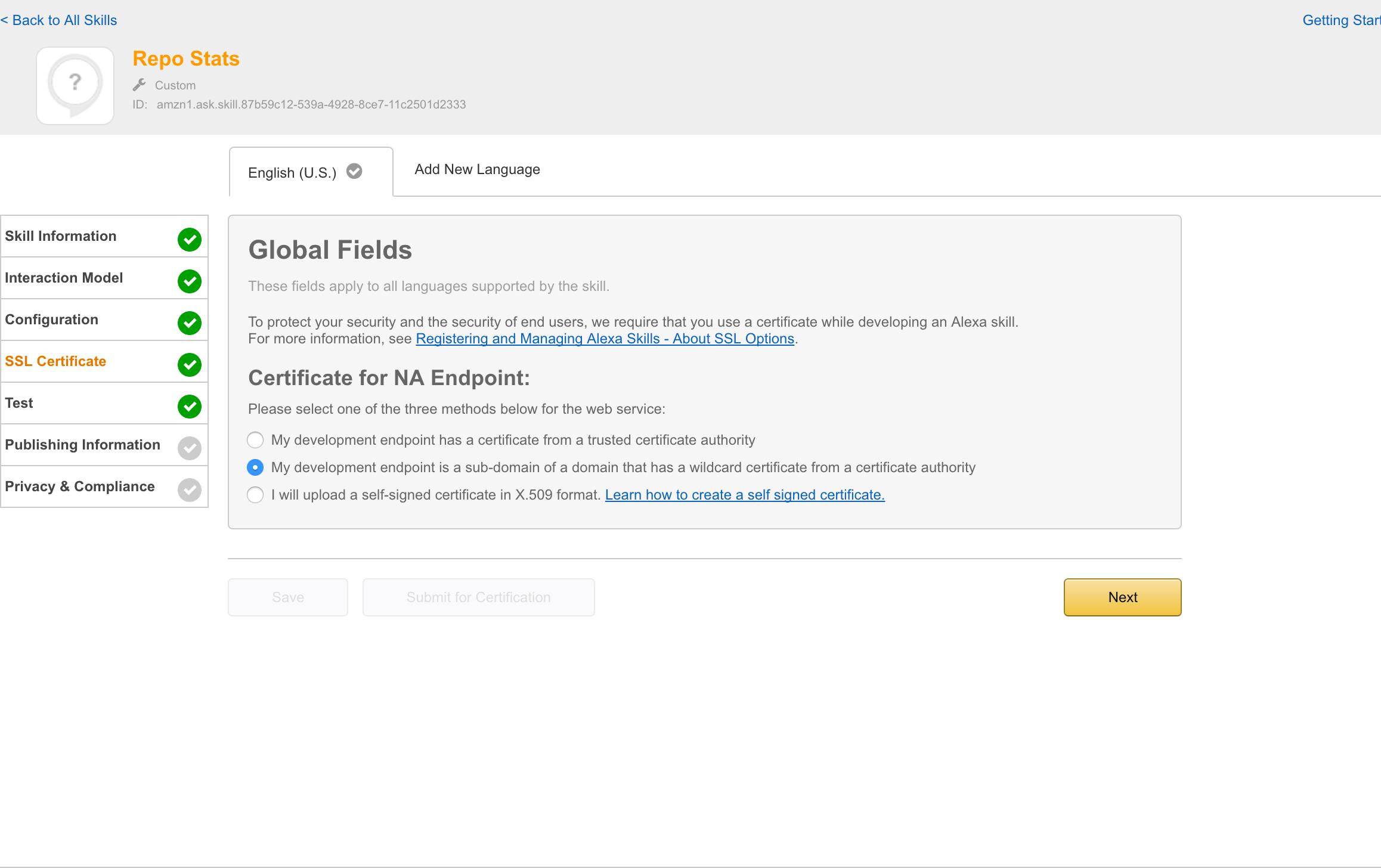 New alexa tutorial deploy flask ask skills to aws lambda with ssl certificateg xflitez Gallery