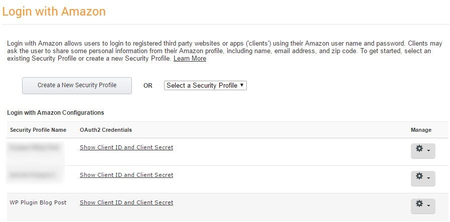 Using the Login with Amazon WordPress Plugin : Appstore Blogs