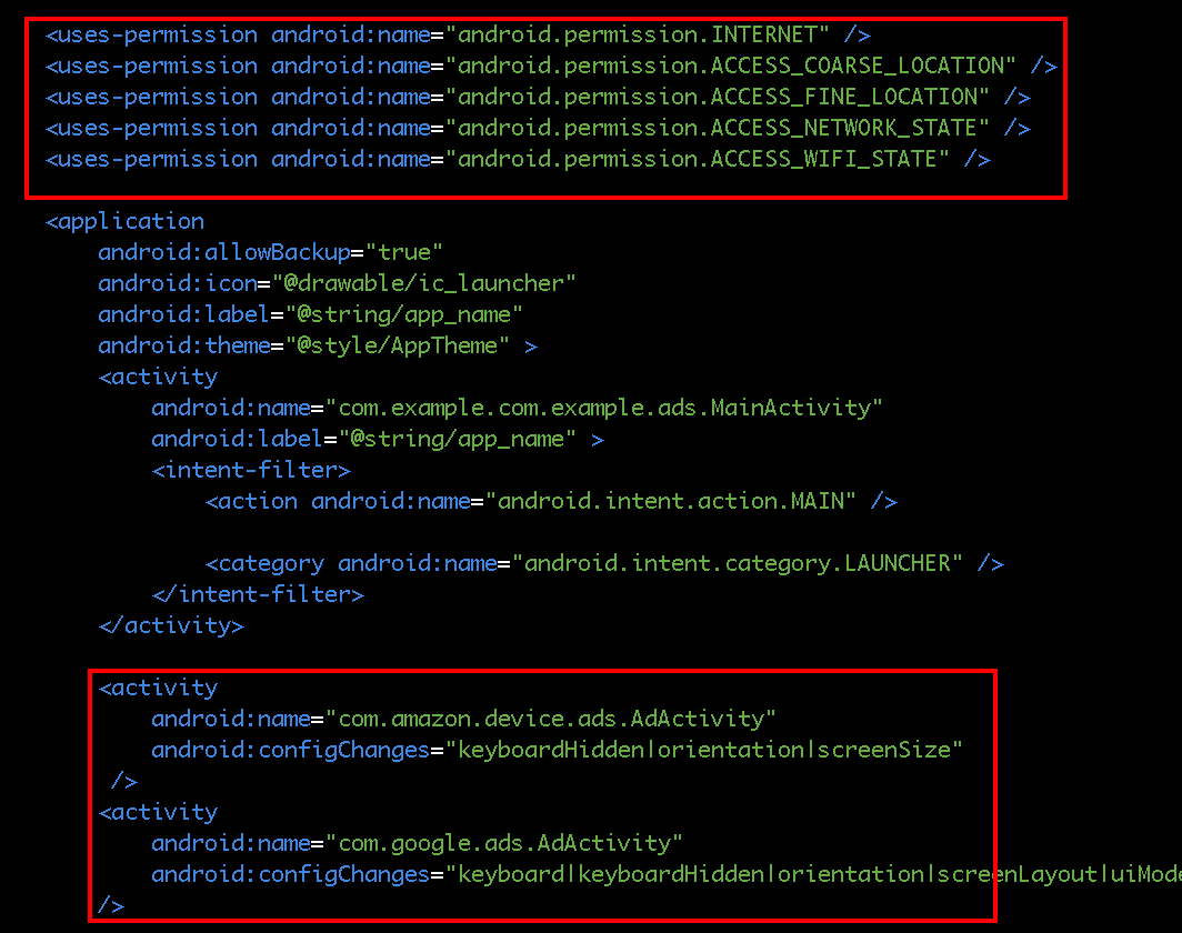 Using the Amazon Mobile Ads API with other Ad Network SDKs