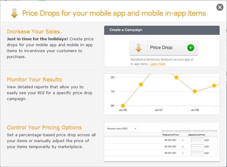 Easily Manage Pricing & Discounts: Developer Promotion