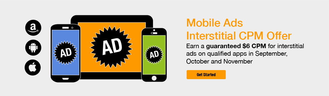 Limited Time Offer Earn 6 Cpm On Interstitial Ads From The Amazon
