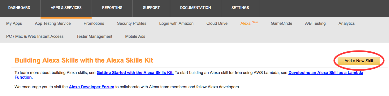 New alexa skills kit template step by step guide to build a how step 3 set up your alexa skill in the developer portal malvernweather Image collections