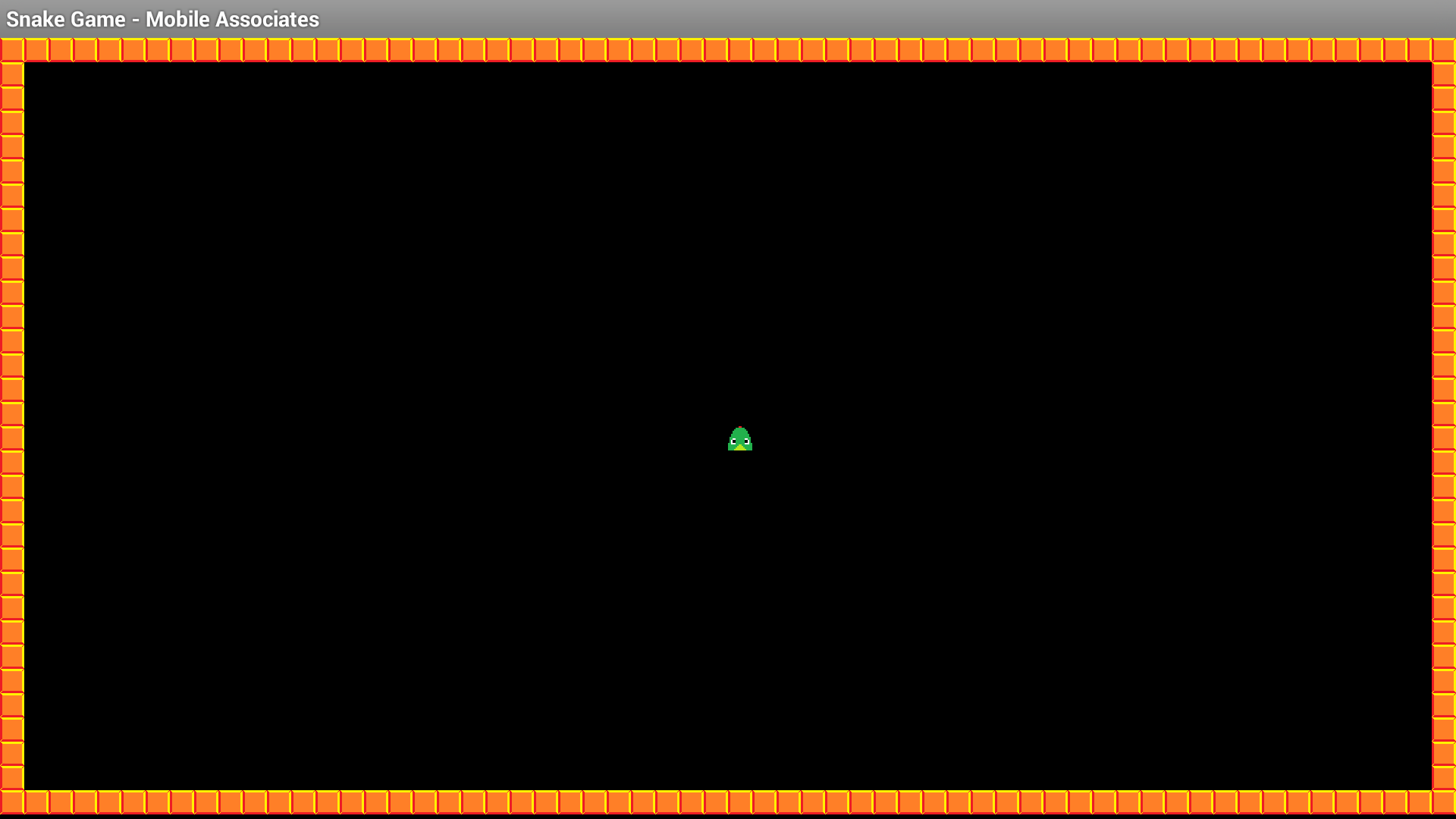 Figure 6- Snake Game fixed and running in landscape