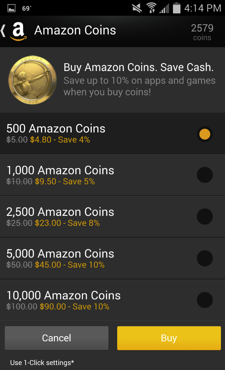 Amazoncom apps games - Customers Save Up To 10 On Apps Games And In App Items By Purchasing Amazon Coins Customers Are Shown Their Current Coins Balance At The Top Of The