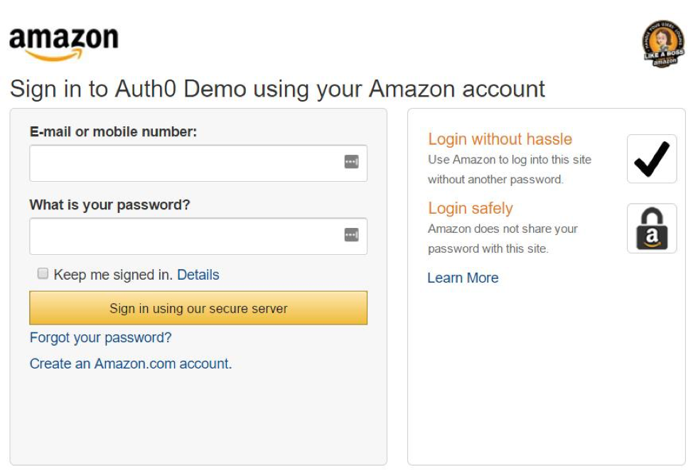 Image result for Login window in amazon
