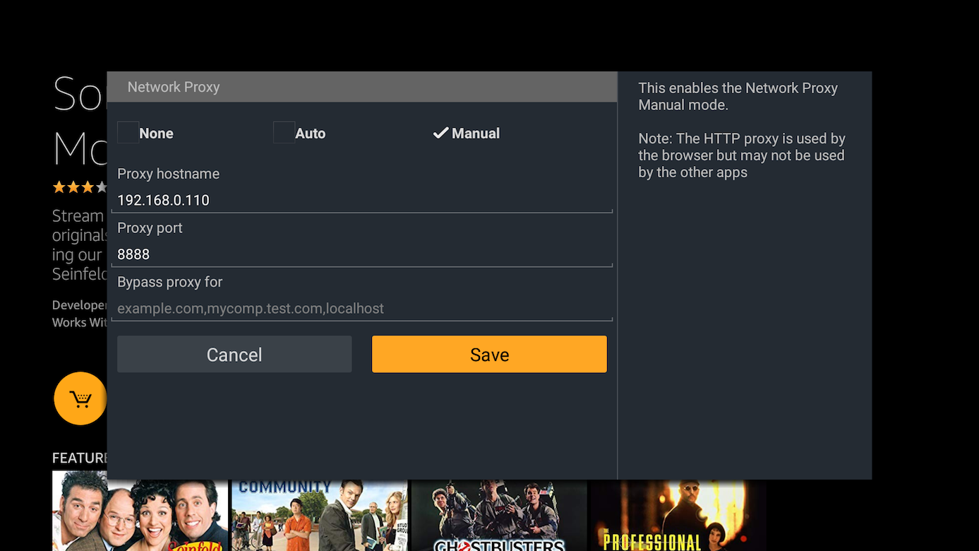 Viewing Secure (SSL/HTTPS) Traffic From Your App on Fire TVs Running