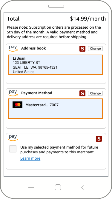 Payment widgets | Amazon Pay