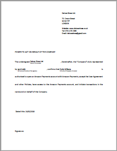 Letter of authorization template