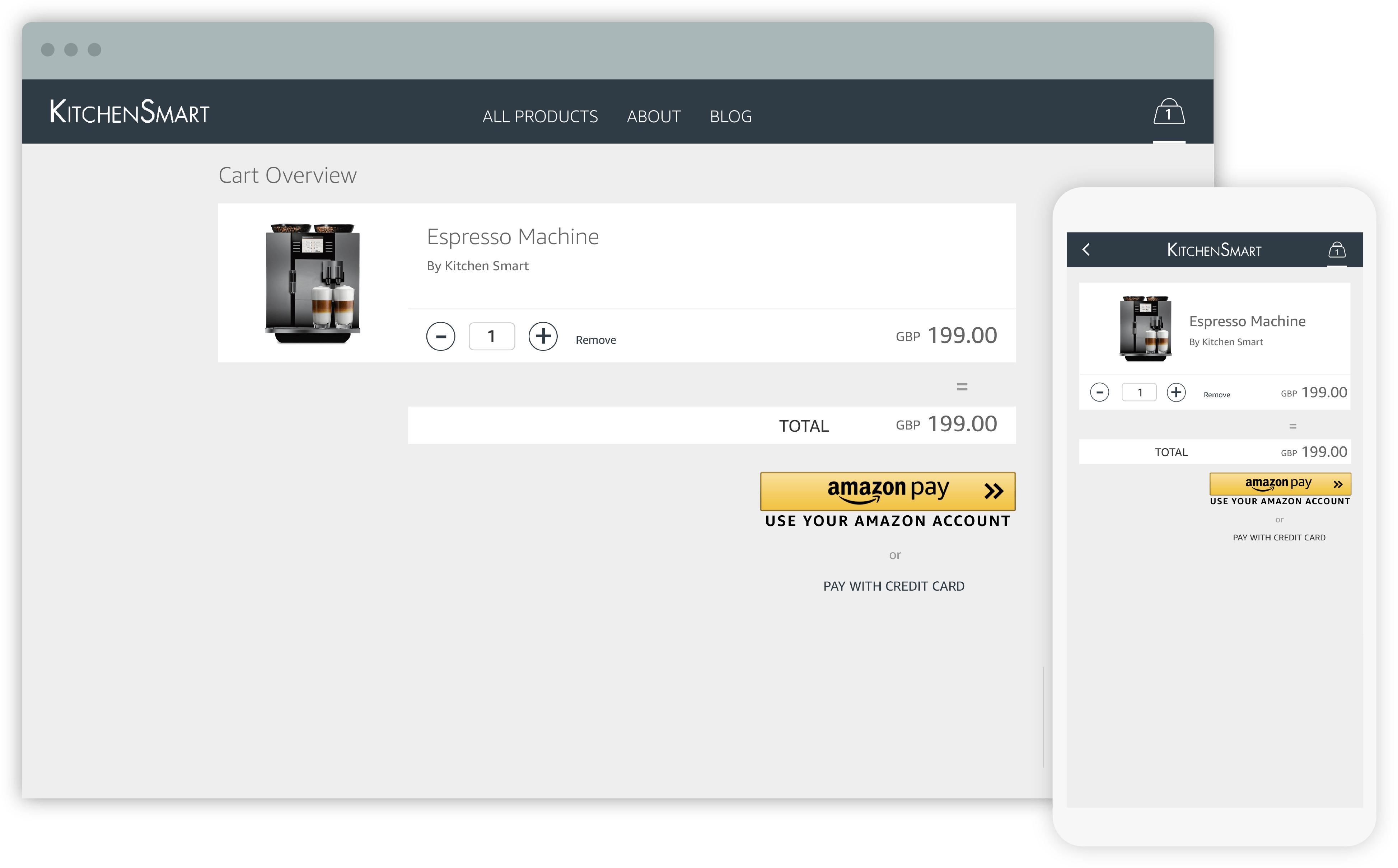 Example of an online payment solution