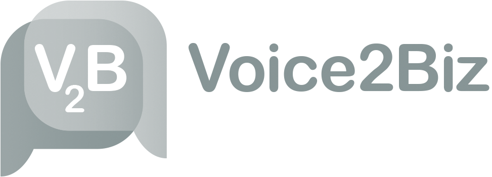 Voice2Biz logo
