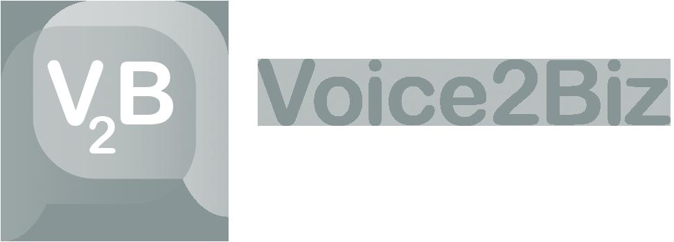 Voice2Biz logo