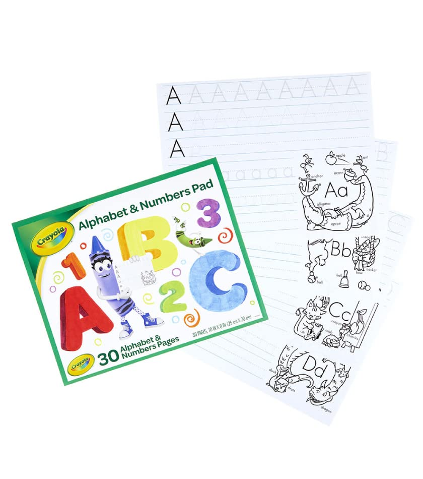 Crayola Alphabet and Numbers Pad with 30 activity pages