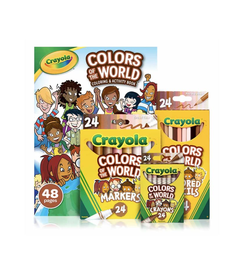 Crayola Colors of the World Coloring Book with Crayons, Markers, and Colored Pencils