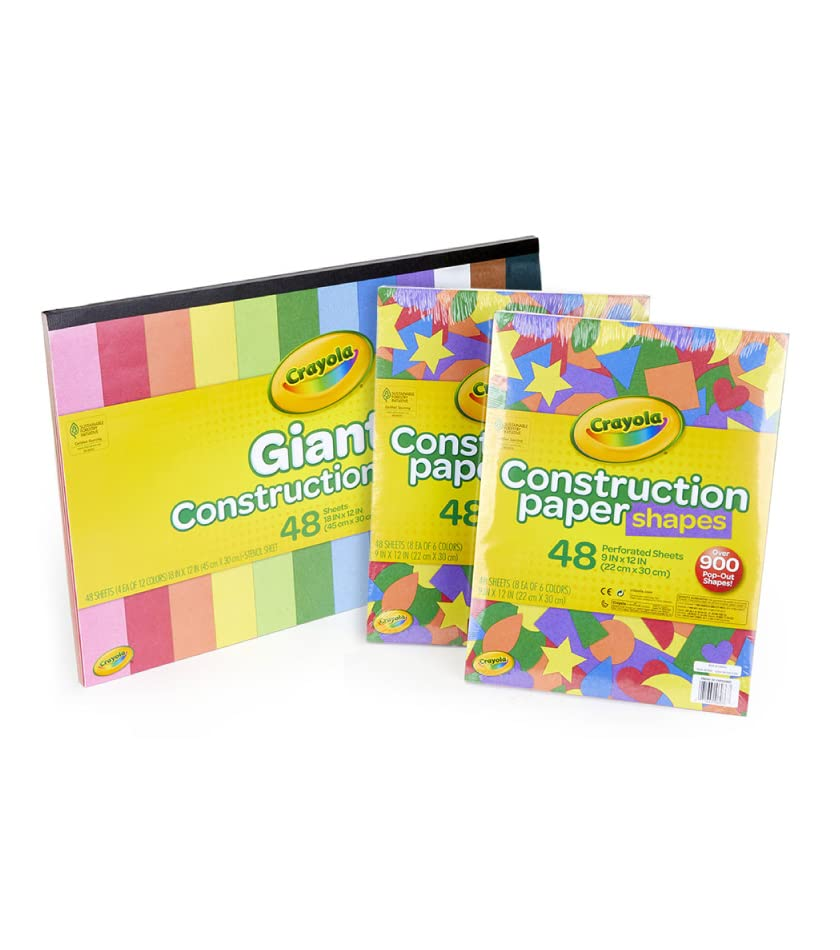 48 Sheets of Giant Construction Paper with Stencil and 2 sets of 900 pop-out shapes