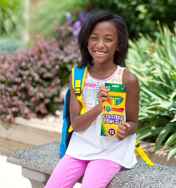 Girl holding Crayola Colored Pencil Set