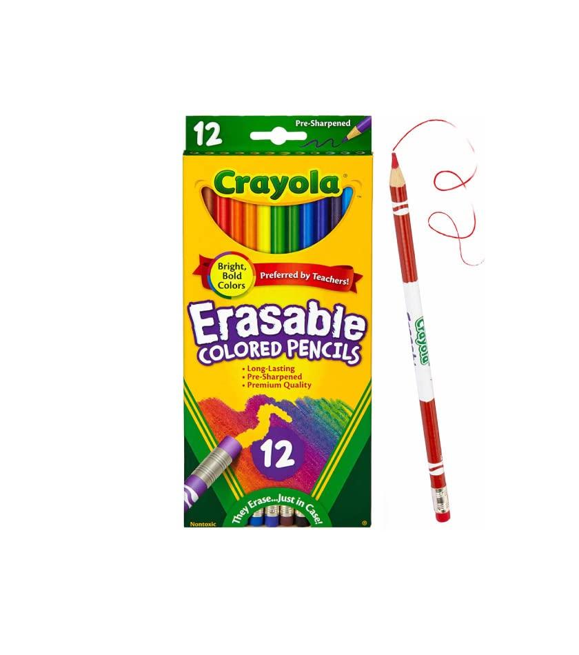 12 Crayola Erasable Colored Pencils