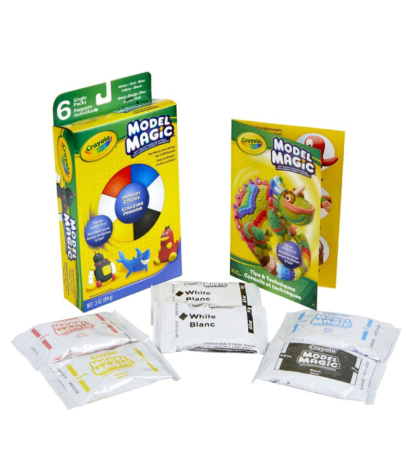 Set of 6 Crayola Model Magic Packs in primary colors