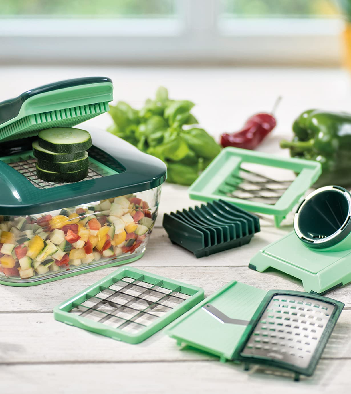 Nicer Dicer Chef (15-tlg.) |  inkl. Tomaten-Gemüse-Schneider