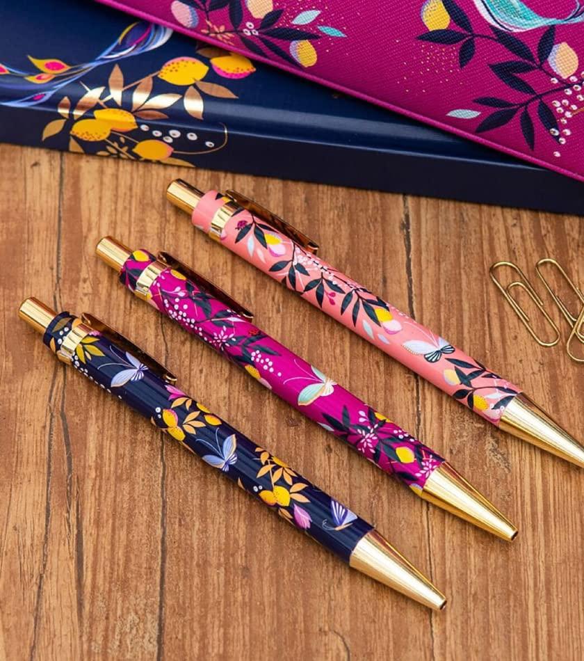 Sara Miller Orchard Set Of Three Ballpoint Pens