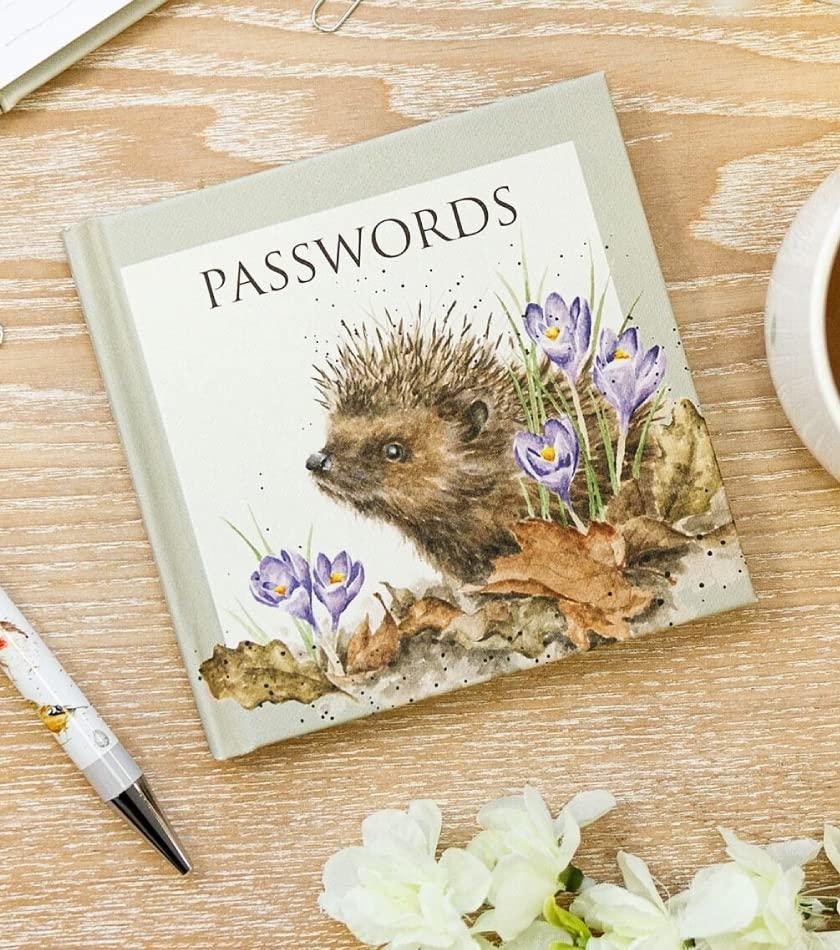 Wrendale Hedgehog Password Book