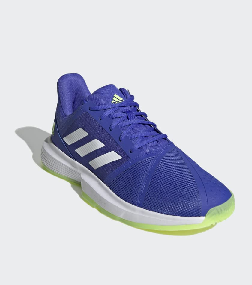 Adidas Men's CourtJam Bounce Tennis Shoes Sonic Ink and White