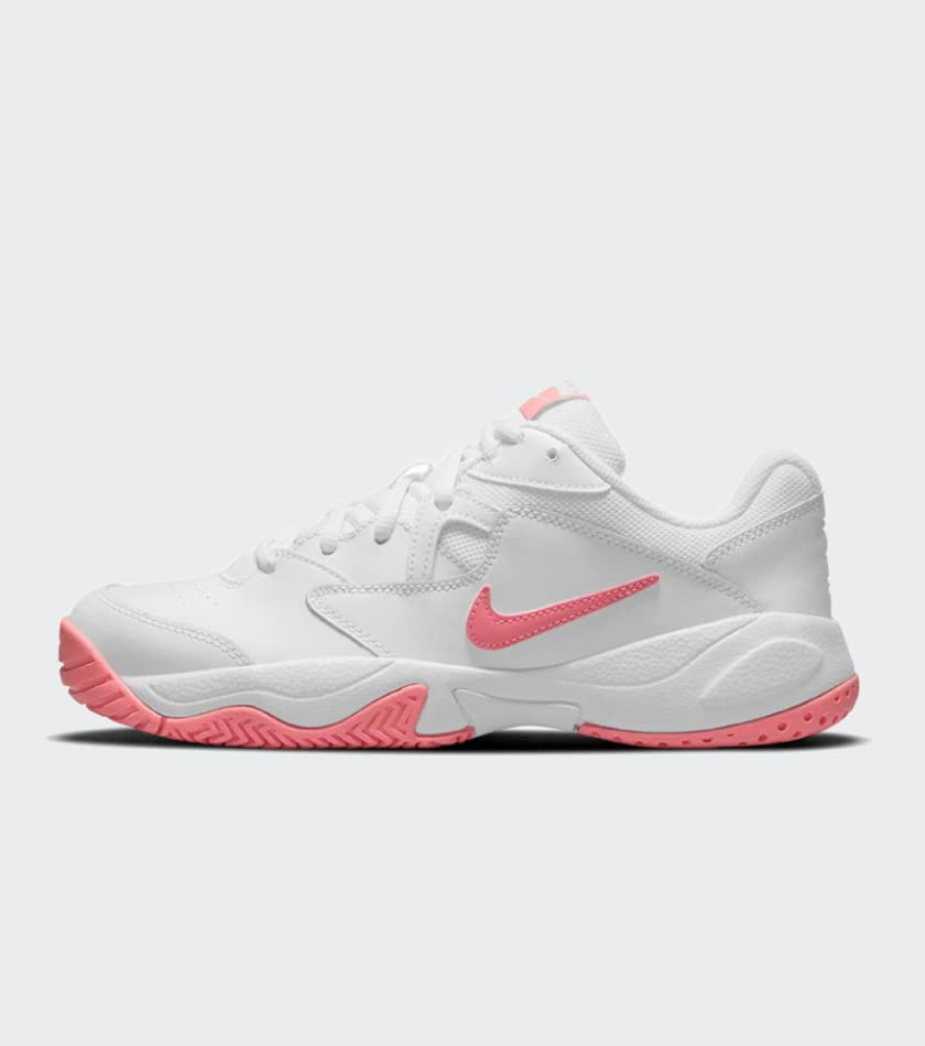 Nike Women's Court Lite 2 Tennis Shoes White and Pink Salt