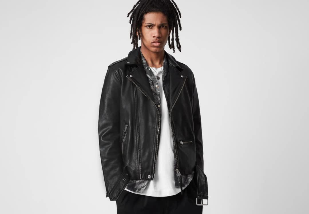 Wick Leather Biker Jacket AllSaints