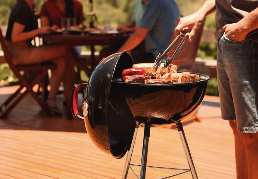 Primrose Carbon Steel Charcoal Portable Grill with Lid