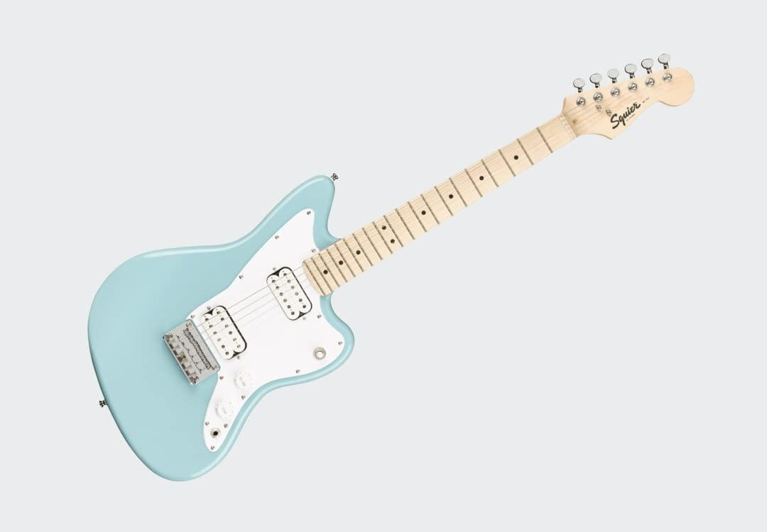 Dawsons Music & Sound Squier Mini Jazzmaster Electric Guitar Daphne Blue