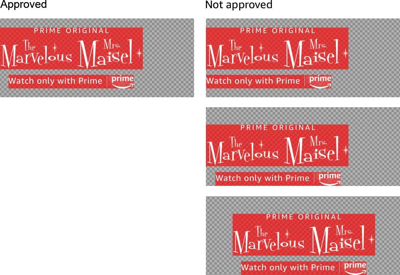 Logo alignment examples