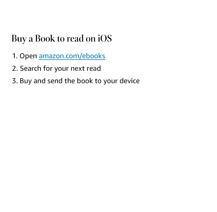 Buy a book to read on iOS.