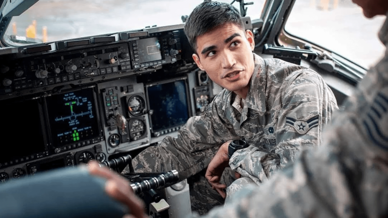 Inside Military Plane