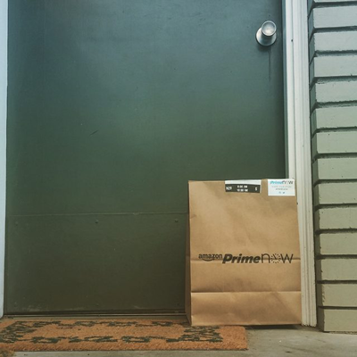 Prime Now bag and products