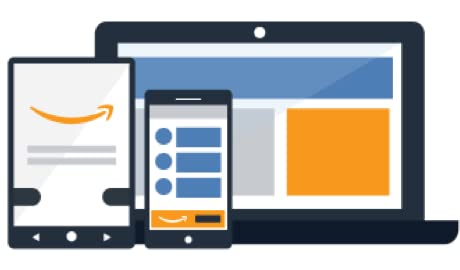 Amazon ads being displayed on laptops, tablets, and mobile devices