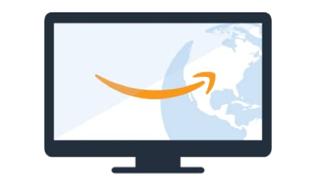 Computer screen with Amazon smile