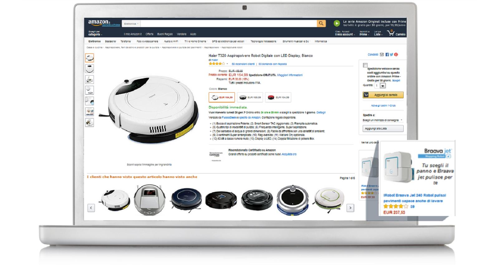 Esempi di Annunci Product Display su desktop e dispositivi mobili