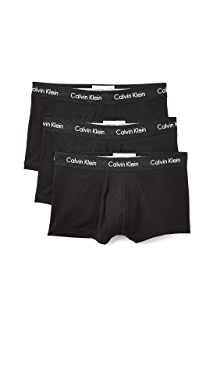 캘빈 클라인 Calvin Klein 3 Pack Low Rise Trunks