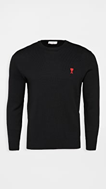 AMI Small A Heart Pullover Sweater,Noir