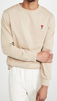 Ami De Coeur Long Sleeve T-Shirt,Beige