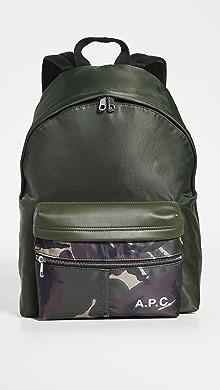아페쎄 A.P.C. Sac A Dos Camden Backpack,Military Khaki