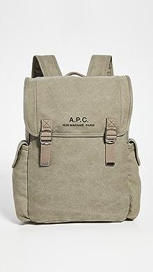 아페쎄 A.P.C. Sac A Dos Recuperation Backpack,Khaki