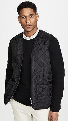 바버 Barbour Polarquilt Waistcoat / Zip-In Liner,Black