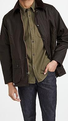 바버 Barbour Classic Bedale Wax Jacket,Olive