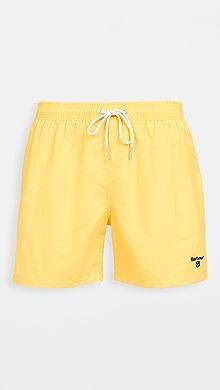 바버 Barbour Essential Logo Swim Shorts,Sunbleached Yellow
