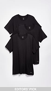 캘빈 클라인 Calvin Klein 3 Pack Regular Fit Classic Short Sleeve Tee