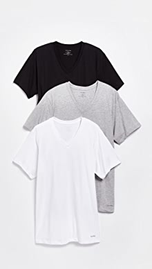 캘빈 클라인 Calvin Klein 3 Pack Classic Regular Fit V-Neck Tee